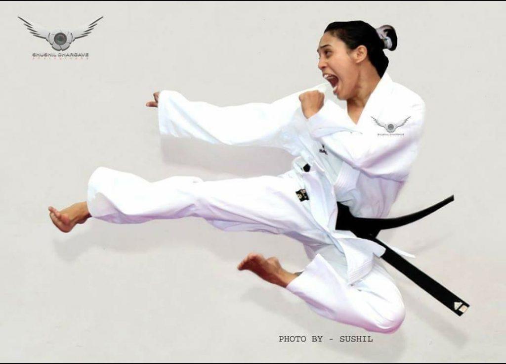 Flying kick by Supriya Jatav