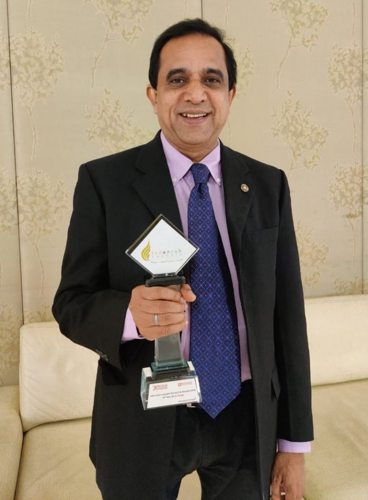 Dr. C N Narayana with trophy